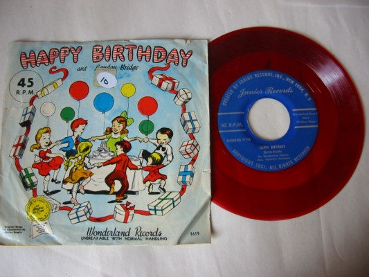 HAPPY BIRTHDAY - JUNIOR RECORDS # 10