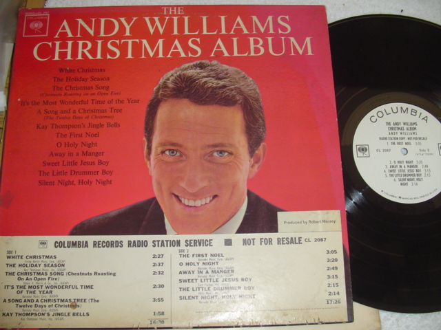 ANDY WILLIAMS - CHRISTMAS ALBUM - COLUMBIA PROMO { CH 48