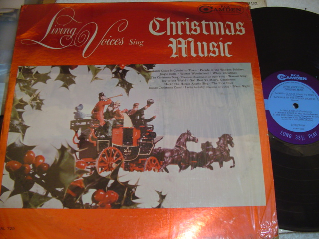 LIVING VOICES - CHRISTMAS MUSIC - RCA CAMDEN { CH 55