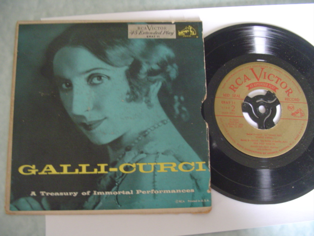 GALLI CURCI - IMMORTAL PERFORMANCE - RCA EP