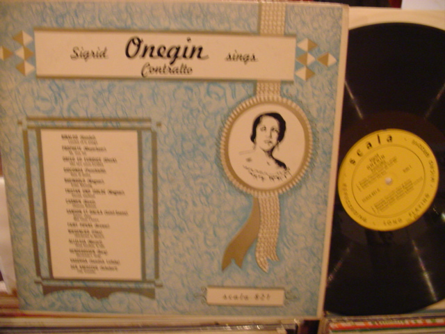 SIGRID ONEGIN - CONTRALTO SINGS - SCALA - FV
