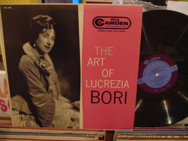LUCREZIA BORI - THE ART OF - RCA CAMDEN - FV 59