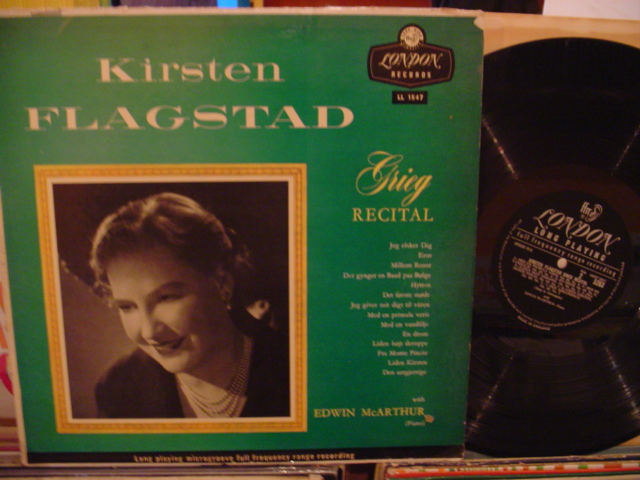 KIRSTEN FLAGSTAD - GRIEG RECITAL - LONDON - FV 53
