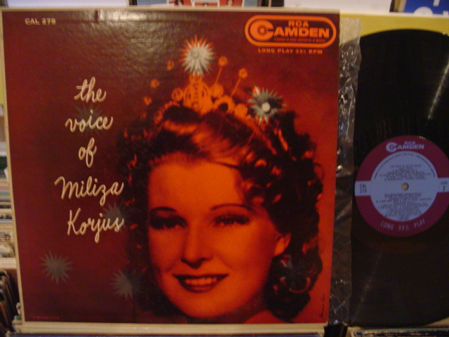 MILIZA KORJUS - THE VOICE OF - RCA CAMDEN - FV 48