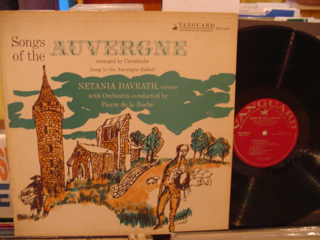 NETHANIA DAVRATH - SONGS OF THE AUVERGNE - VANGUARD - FV 12