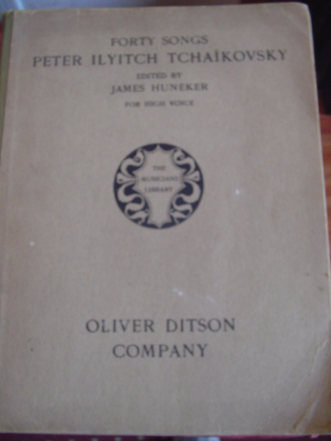 PETER ILYITCH TCHAIKOVSKY - 40 SONGS - OLIVER DITSON