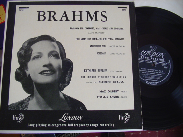 KATHLEEN FERRIER - BRAHMS RHAPSODY - LONDON