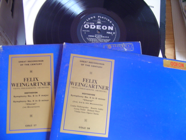 BEETHOVEN - SYMPH 8 & 9 - WEINGARTNER - ODEON COLH 2LP