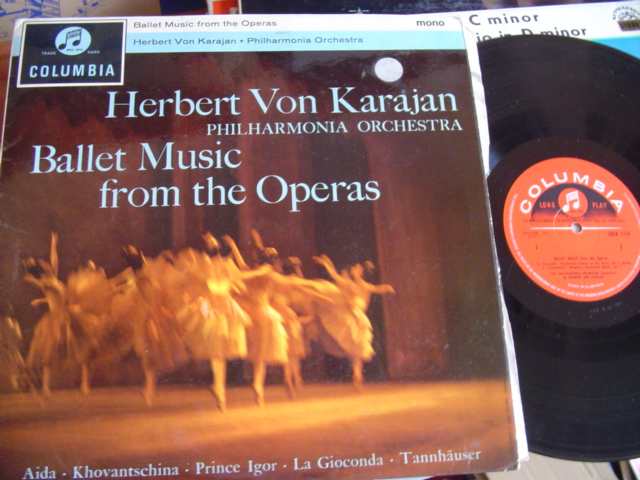 BALLET MUSIC FROM OPERAS - KARAJAN - COLUMBIA 33CX 1774
