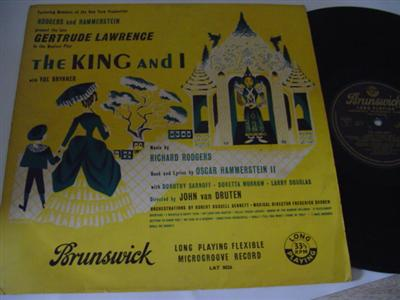 THE KING & I - GERTRUDE LAWRENCE - BRUNSWICK { R 957