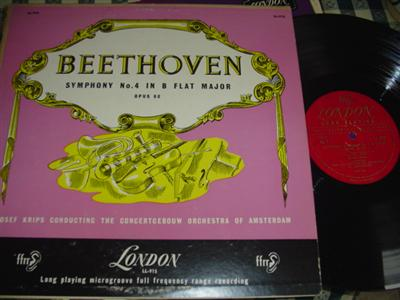 BEETHOVEN - SYMPHONY No 4 - KRIPS - LONDON { 982