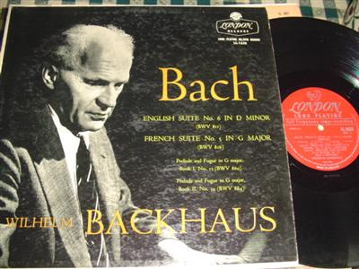 BACKAUS - BACH - ENGLISH FRENCH SUITE - LONDON { 991
