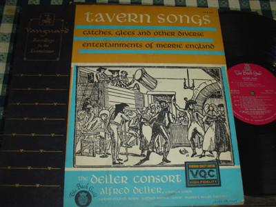 ALFRED DELLER - TAVERN SONGS - VANGUARD { R 1008