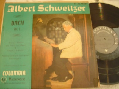 ALBERT SCHWEITZER - BACH VOL 1 - COLUMBIA { 1055