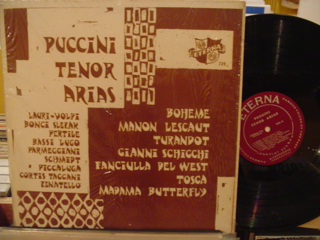 VARIOUS TENORS - PUCCINI ARIAS - ETERNA - MV 59