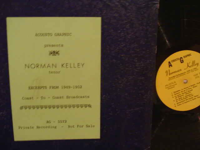NORMAN KELLEY - EXCERPTS 1949-1952 - PRIVATE - MV 68