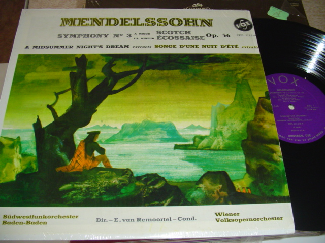 MENDELSSOHN - SYMPH No 3 SCOTCH - REMOORTEL VOX { R 300