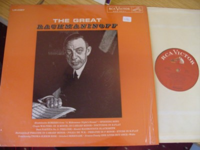 RACHMANINOFF - PIANO - THE GREAT - RCA { R 476