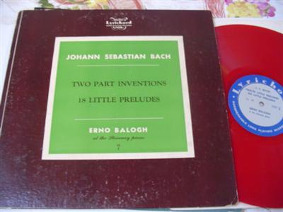 ERNO BALOGH piano - BACH INVENTIONS - LYRCHORD LL 1 {684