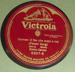 Caruso - Bizet & Meyerbeer - Victrola 6007 - Two Sided 78