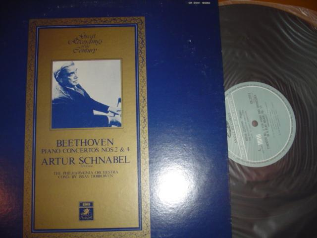 ARTHUR SCHNABEL BEETHOVEN No 2 & 4 JAPAN { P23 }