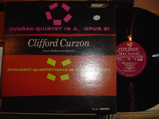 CLIFFORD CURZON DVORAK SCHUBERT LONDON { P 69 }