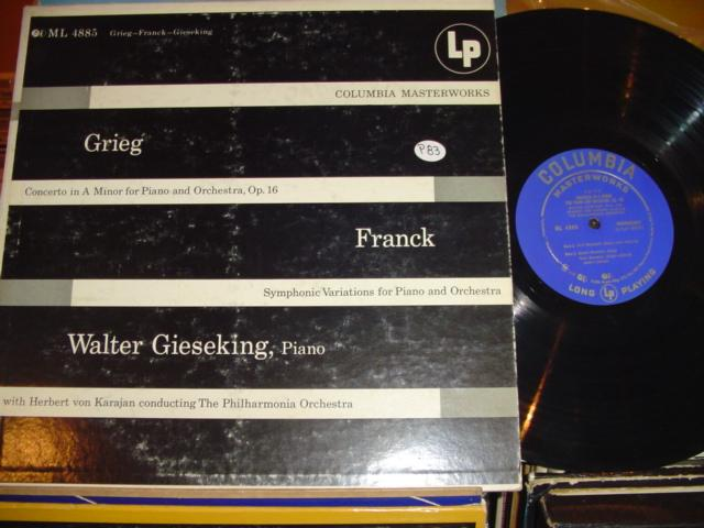 GIESEKING GRIEG FRANCK COLUMBIA ML { P 83 }