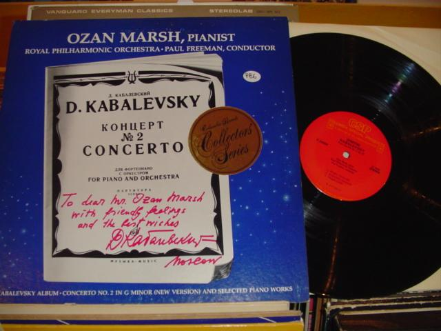OZAN MARSH - KABALEVSKY COCERTO NO 2 COLUMBIA { P 86 }