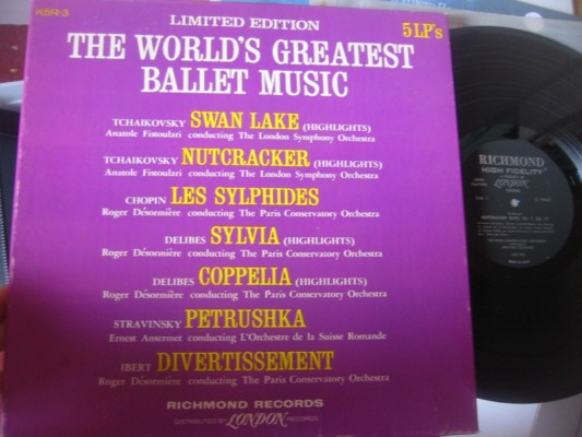 VARIOUS - WORLDS GREATEST BALLET MUSIC - RICHMOND 5 LP