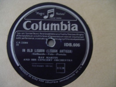 RAY MARTIN - OLD LISBON - COLUMBIA IDB 606 { 1252