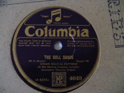 Pattman Organ - Charmaine / Dolls Dance - Columbia 4649