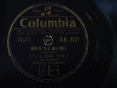 FRANK SINATRA - BEGIN THE BEGUINE - COLUMBIA { 1206