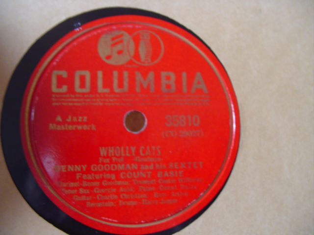 BENNY GOODMAN & COUNT BASIE - WHOLLY CATS - COLUMBIA 3581