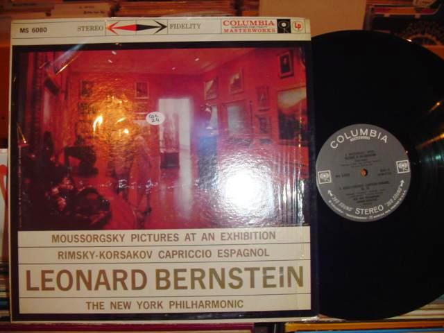 MOUSSORGSKY - PICTURES - BERNSTEIN - COLUMBIA 2 EYE
