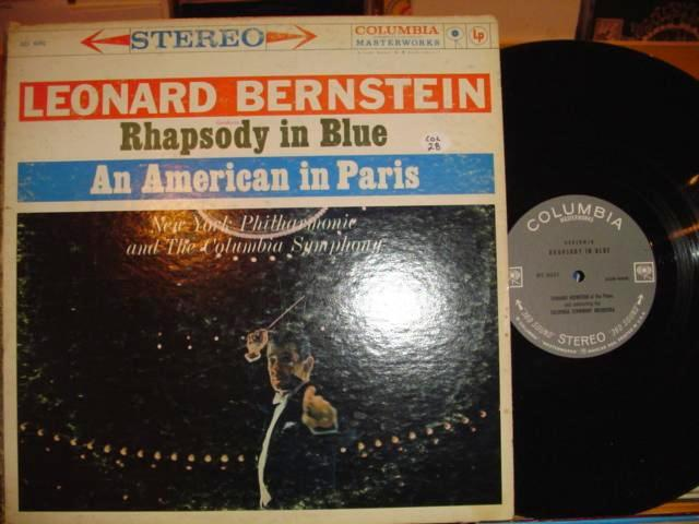 BRENSTEIN - RHAPSODY IN BLUE - COLUMBIA 6 EYE