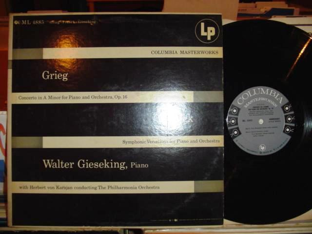 GRIEG , FRANCK PIANO - GIESEKING - COLUMBIA 6 EYE