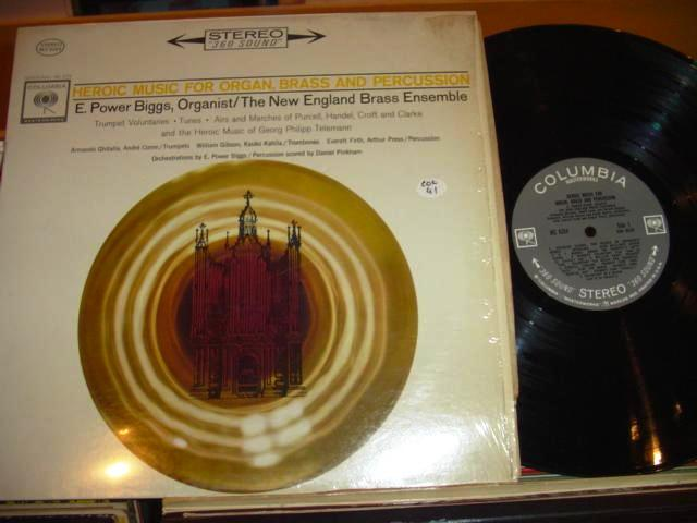E POWER BIGGS - ORGAN BRASS - COLUMBIA 2 EYE