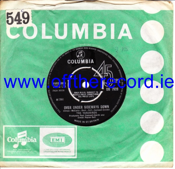 The Yardbirds - Over under Sideways - Columbia UK 3477