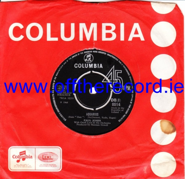 Paul Jones - Aquarius - Columbia Irish 3478