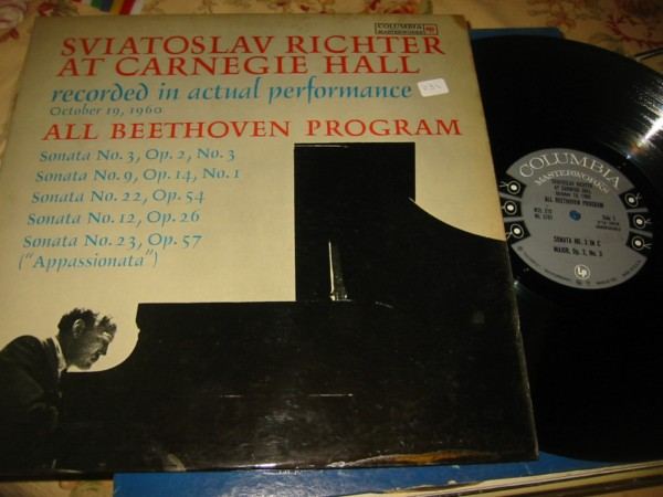 RICHTER - BEETHOVEN - CARNEGIE HALL - 2 LP COLUMBIA