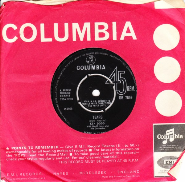 Ken Dodd - Tears - Columbia UK 4365