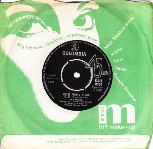 Ken Dodd - Kisses from a clown - Columbia IRISH 4364