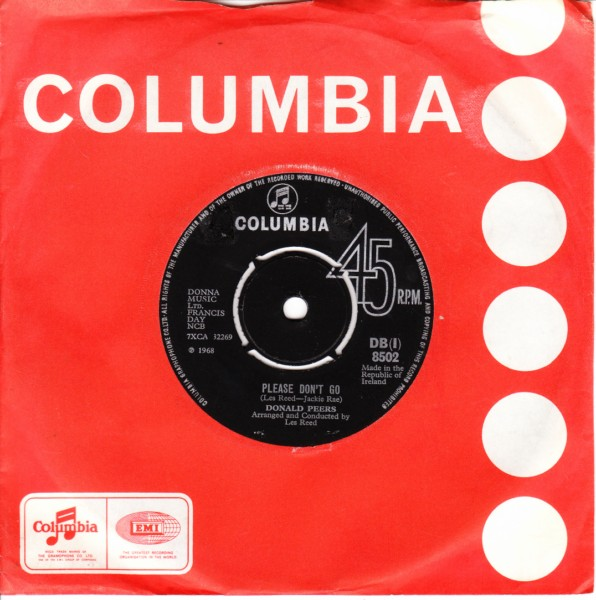 Donald Peers - Please dont go - Columbia Irish 4349