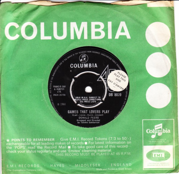 Donald Peers - I found my love today - Columbia UK 4348