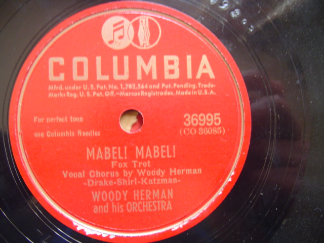 WOODY HERMAN - MABEL MABEL - COLUMBIA 36995