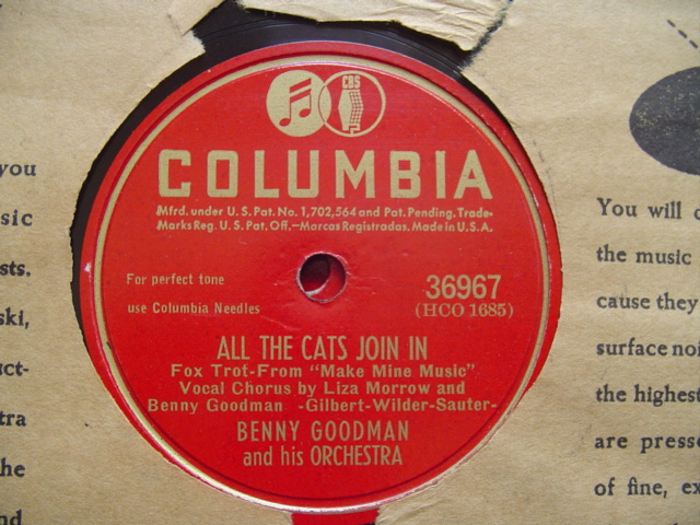 BENNY GOODMAN - DONT BE A BABY BABY - COLUMBIA 36967