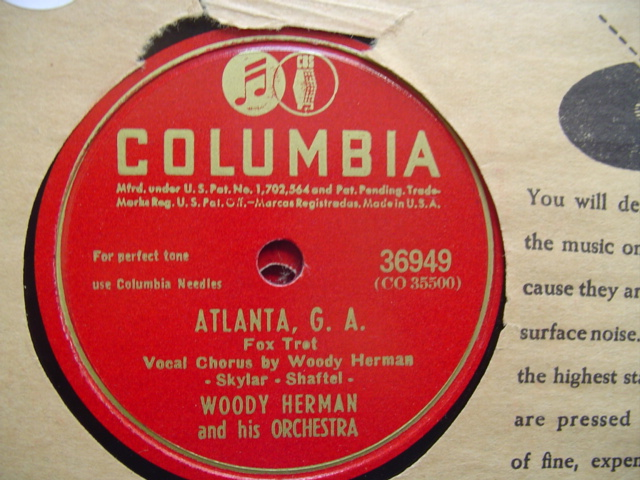 WOODY HERMAN - ATLANTA G.A. - COLUMBIA 36949