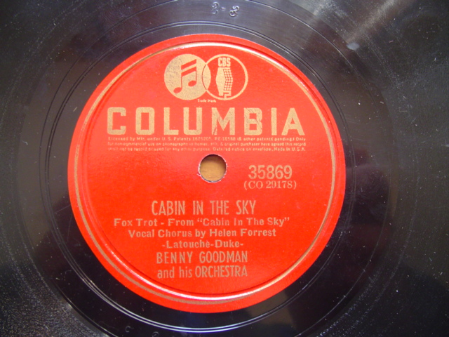 BENNY GOODMAN - CABIN IN SKY - COLUMBIA 35869