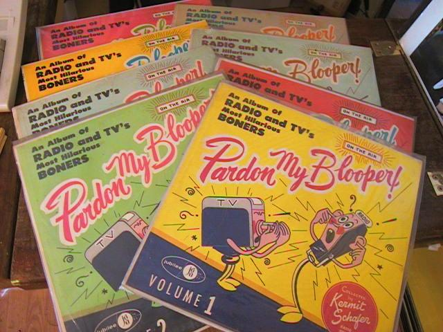 PARDON MY BLOOPERS - 8 LP LOT - KERMIT SCHAFER