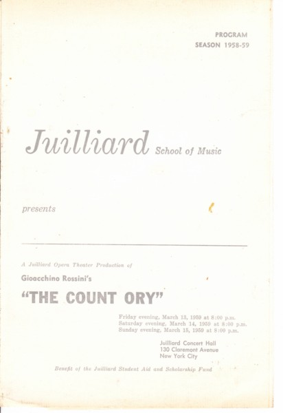 2 ROSSINI - COUNT ORY - VERRETT - JUILLIARD { 38